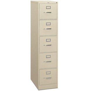 5 Drawer Letter Vertical File Cabinet