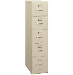 5 Drawer Letter Vertical File Cabinet