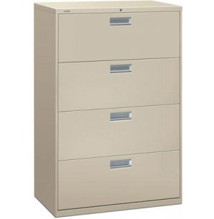 600 Series 4 Drawer Lateral File Cabinet
