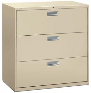 600 Series 3 Drawer Lateral File Cabinet