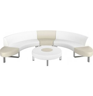 Hip Hop C-shaped Modular Lounge Seating with Coffee Table