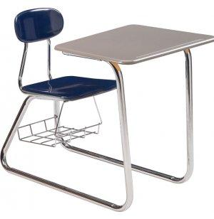 Sled Base Combo Desk - Hard Plastic Top