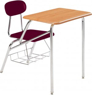 Combo Student Chair Desk - WoodStone Top