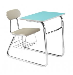 Sled Base Combo Desk - Woodstone Top