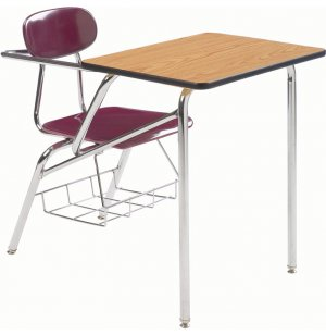 Combo Student Chair Desk - Laminate Top, Support Brace, 14