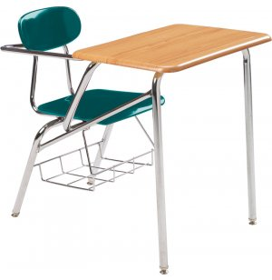 Combo Student Chair Desk - WoodStone Top, Support Brace