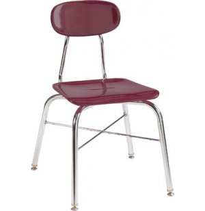 Hard Plastic Stackable School Chair with X-Brace