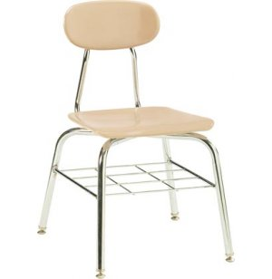 Deluxe Hard Plastic Stackable School Chair - Bookrack