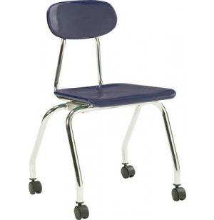 Hard Plastic Stackable School Chair with Casters