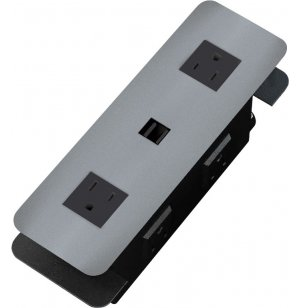 Cove USB Power Strip Station - Brushed Aluminum