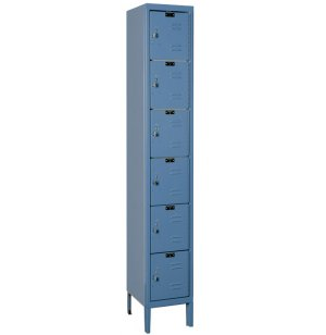 6-Tier Locker-1 Wide Assembled
