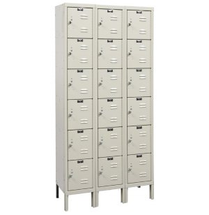6-Tier Locker-3 Wide Assembled