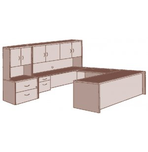 Hyperwork Left Executive U-Shaped Office Desk