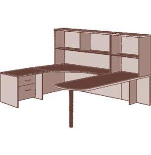 Peninsula U Office Desk- Left Extended Corner