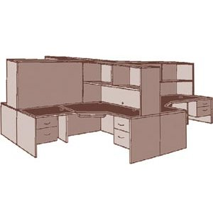 Hyperwork Office Desk Cluster