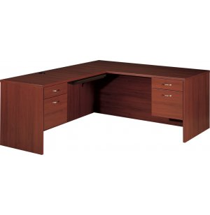 L-Shaped Office Desk- L Return & Keyboard Tray