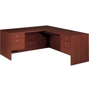 L-Shaped Office Desk w/ R Return & Keyboard tray