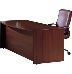 Hyperwork Double Ped. Bow Front Office Desk