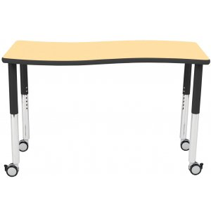 Chord Collaborative Classroom Table w/Colored Trim