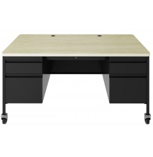 HL10000 Teacher's Mobile Double Pedestal Desk
