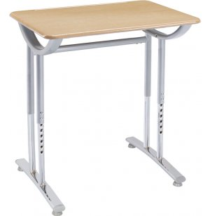 Illustration Classroom Desk with Hard Plastic Top