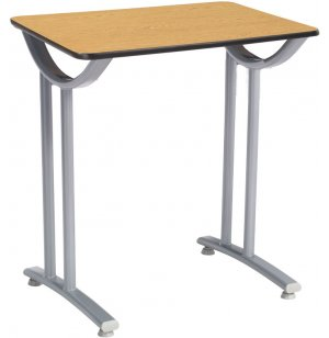 Illustrations Fixed Height Desk with Fiberboard Top