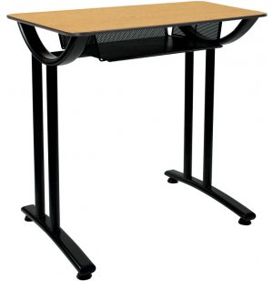 Illustration Open Front Desk w/Fiberboard Top Fixed Ht