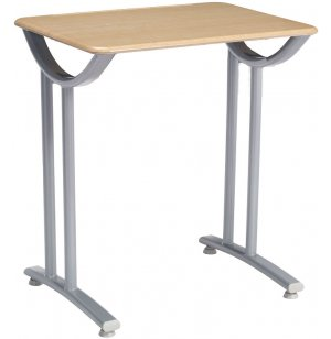 Illustrations Fixed-Ht Classroom Desk with Hard Plastic Top