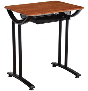Illustration Open Front Desk w/WoodStone Top Fixed ht
