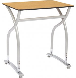 Illustrations V2 Adj. Height Classroom Desk - Laminate Top