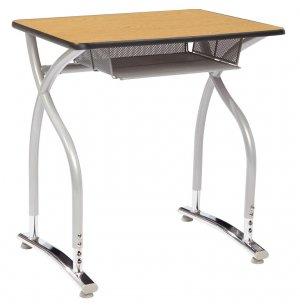 Illustrations V2 Adj. Height Open Front Desk - Laminate Top
