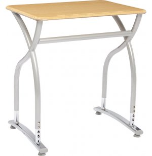 Illustrations V2 Adj. Height Classroom Desk - WoodStone