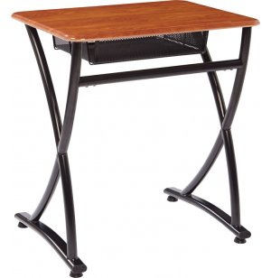 Illustrations V2 Open Front School Desk - WoodStone