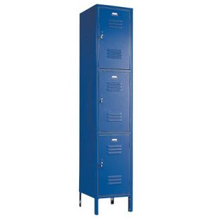 3-Tier Locker 1-Wide w/Friction Catch Door Pull