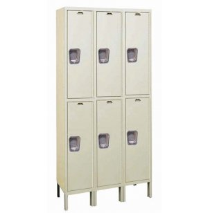 Dble Tier Quiet Locker 3-Wide Unassembled