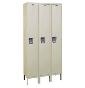Single Tier Quiet Locker 3-Wide Unassembled