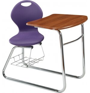 Inspiration Swivel Student Chair Desk - Sled Base
