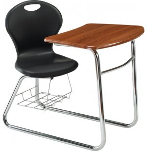 Inspiration XL Swivel Student Chair Desk - Sled Base