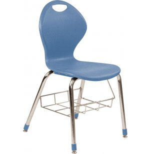 Inspiration Classroom Chair with Book Rack