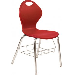 Inspiration Poly Classroom Chair with Bookrack