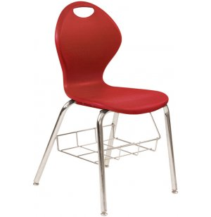 Inspiration Value XL Poly Classroom Chair with Bookbox