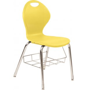 Inspiration Value Poly Classroom Chair with Bookrack