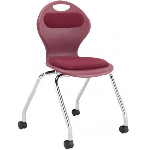 Inspiration Padded Poly Classroom Chair - Casters
