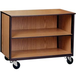 Mobile Office Library Storage Unit - 1 Adj Shelf, 36