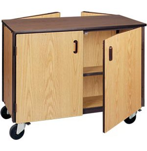 Double Faced Storage Cabinet - 2 Adj Shelves, 36