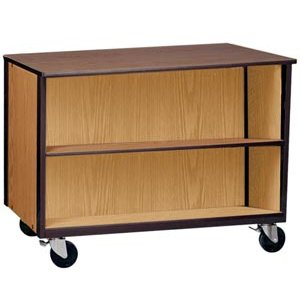Double Faced Mobile Storage Unit - 2 Adj Shelves, 36