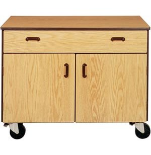 Mobile Office Storage Cabinet - 1 Drawer, 1 Adj Shelf, 36