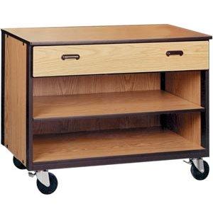 Mobile Office Storage - 1 Drawer, 1 Adjustable Shelf, 36