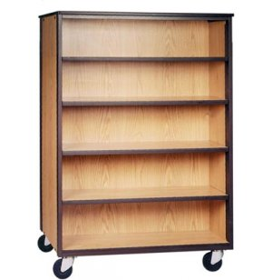 Mobile Office Library Shelving - 4 Adj Shelves, 66