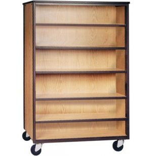 Mobile Office Library Shelving - 5 Shelves, 72